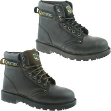 GRAFTERS STEEL TOE SAFETY WORK BOOTS SIZE 4 - 16 MENS BLACK BROWN M629 KD