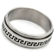 White Stainless Steel No Stone Mens Womens Band Ring Size 7 9 10 11 12 13