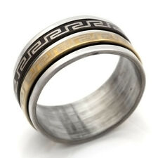 Silver Stainless Steel No Stone Mens Womens Band Ring Size 7 8 9 10 12 13
