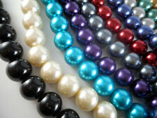 1 Strand Glass 14mm Round Pearl Beads (31 beads) You Pick Color