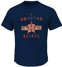 NEW Mens MAJESTIC Houston Astros 1962 MLB Blue Big & Tall Baseball T-Shirt