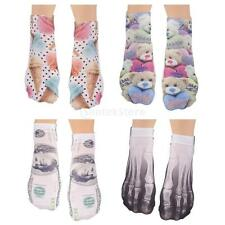 Fashion Cool Women Men Casual Low Cut Ankle Socks Cotton 3D Printed Sock 1 Pair
