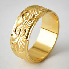 Special Womens Yellow Gold Filled Band Promise Love Band Ring Size 6-10