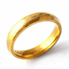 Yellow Gold Filled Arabic Letter Unisex band Promise Love Band Ring Size 7-11