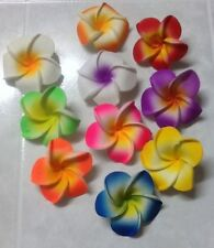 10 4.5cm Frangipani Latex Foam Flowers Craft/Wedding Decorations Various Colours