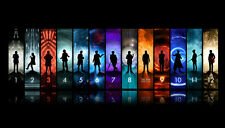 Doctor Who all 12 doctors Canvas Print Decor, Choose Your Size !!!