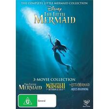 THE LITTLE MERMAID Trilogy 1 2 3 : NEW Disney DVD