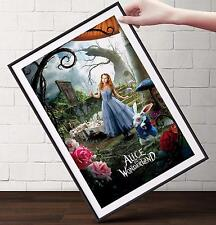 ALICE IN WONDERLAND MOVIE Poster | Cubical ART | Gifts For Guys | FREE Shipping