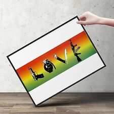 STEEZ LOVE WEAPONS  Pop Art Poster | Cubical ART | Gifts  | FREE Shipping