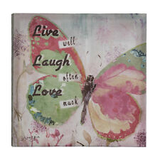 Koolekoo Live, Laugh, Love Butterfly Canvas Wall Art