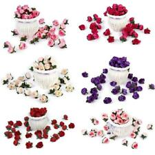 50pcs Artificial Silk Roses Flower Heads Buds Wedding Party Decoration DIY Craft