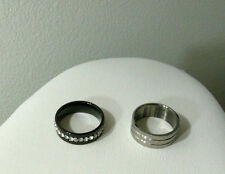 Stainless Steel Ring Band Pinky Thumb Ring Mens Women Silver Gray Black Size 6.5