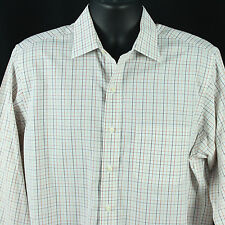 Brooks Brothers Mens Size 15.5 33 Dress Shirt White Checks Business WorkDesigner