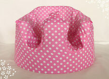 *NEW DESIGN'  Bumbo 100% Cotton Seat Cover with Harness Slots 'Pink Polkadots