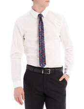 NEW Kenji Formals Stevie Stretch Long Sleeve Suit Shirt White