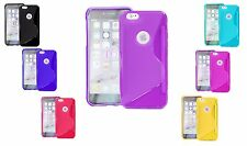 S-Line Wave TPU Soft Silicone Gel Grip Back Case Cover For Apple iPod Touch 6 UK