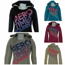 Aeropostale Women Juniors Times Square Wide Neck Pull Over Hooded Sweatshirt New