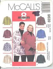 McCall's 9639 Misses' and Men's Unisex Shirt-Jacket   Sewing Pattern