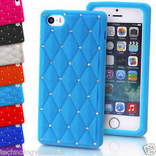 Soft Silicone Diamond Bling Case Rhinestone Cover for Apple iPhone 4/4s 5/5s 6+