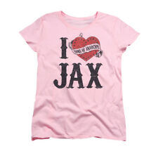 T-Shirts Sizes S-2XL New Womens Sons of Anarchy I Heart Jax Pink Tee Shirt