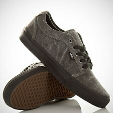 VANS Chukka Low (Washed Canvas) Black/Black Men's Skate Shoes 11, 11.5, 12, 13