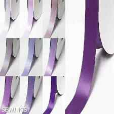 """Double Faced Satin Ribbon 3/8"""" /9mm Wedding By 5 Yards , Lilac purple s color"""