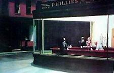 EDWARD HOPPER NIGHTHAWKS ART Poster | Cubical ART | Gift | FREE Shipping