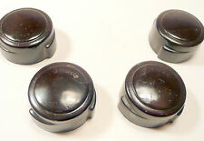 vintage CORONADO * model 46A76-658 TUBE RADIO - set 4 BAKELITE KNOBS - 1 & 1/8""