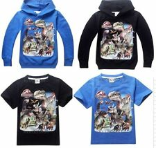 NWT Jurassic World Kids Boys Girls Unisex Jacket Hoodies Coat T-Shirts 4-13Years