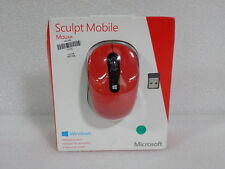 "Microsoft Wireless Mobile Sculpt Mobile Mouse  Red ""retail box"" (32594)"