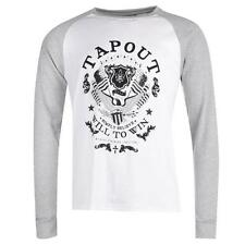 Tapout Raglan Style T Shirt Mens UFC Long Sleeves Crew Neck Top ~All Sizes S-XXL