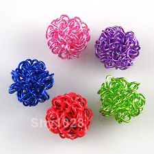 10Pcs Winding Beads Findings 12mm,Pink,Green,Purple,Blue,Red Or Mixed R5105