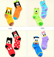 Cute TSUM TSUM Mickey Minnie Winnie Daisy Cartoon Cotton Ladies Girls AB Socks
