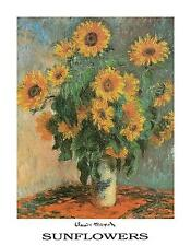 CLAUDE MONET - SUNFLOWERS PAINTING Poster | Cubical ART | Gifts | FREE Shipping