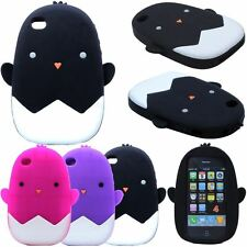 3D Little Chicken Soft Silicone Rubber Case Cover For Apple iPhone 4G/4S