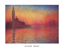 CLAUDE MONET - DUSK  Poster   Cubical ART   Gifts For Guys   FREE Shipping