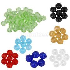 Faceted 50pcs Rondelle Glass Crystal 4mm Beads Loose Beads Spacer Jewellery