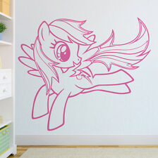 My Little Pony Bedroom Wall Sticker - Cut Vinyl Wall Decal Stencil Decor