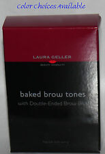 Laura Geller Baked Eye Brow Tones & Double-Ended Brow Brush .03 oz*color choices