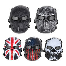 Airsoft Paintball Tactical Full Face Protection Skull Goggles Mask Army Outdoor
