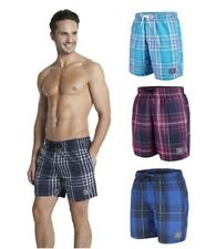Speedo Men's Bathing Trunks Swim Trunks Checked Size M 16""
