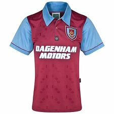 Score Draw Retro Football West Ham United 1995 Centenary Short Sleeve Shirt