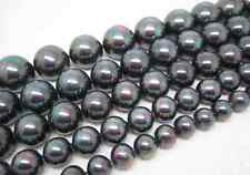 """8mm 10mm 12mm 14mm 16m Multicolor Black South Sea Shell Pearl Loose Beads 15""""AAA"""