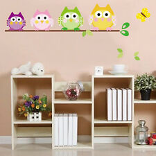 Owl Butterfly Tree Removable Vinyl Decal Kid Room Home Decor Wall Sticker NEW