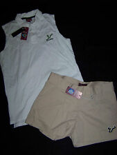 Chillwear Women's Shorts & Polo Tank Top USF Bulls NWT Size 4 and Small