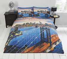city of dreams new york duvet quilt cover bedding set single double king size