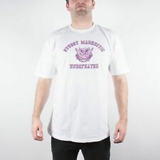 STUSSY X MAD HECTIC X UNDEFEATED SMU TEE WHITE RARE COLLABORATION