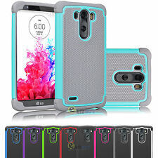 For LG G3 D850 Hybrid Rubber Plastic Impact Defender Rugged Slim Hard Case Cover