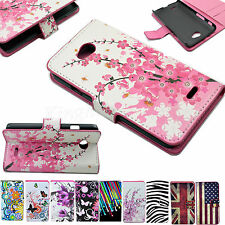 Wallet Flip Leather Holster Phone Case Cover For  LG Optimus Mobile Cell Phones
