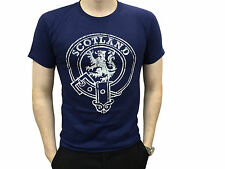 Mens Scottish Navy Lion Rampant Scotland T Shirt Brand New With Tags
